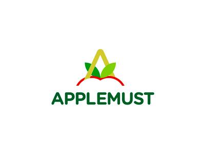 Applemust apple huice logo design by alex tass