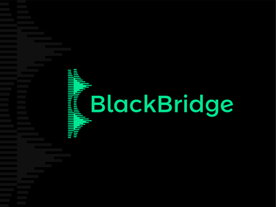 BlackBridge logo design: data + abstract B, BB monogram + bridge a l e x t a s s l o g o d s g n b c f h i j k m p q r u v w y z data stats graph chart icon logomark logo design logo monogram letter mark bb b saas daas data visulization data analytics data analysis large data big data bridge