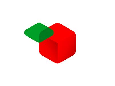 Apple icon / logo design symbol: digital meets organic creative design logo designer technology tech identity logo design icon logomark logo organic digital fruit apple data daas saas