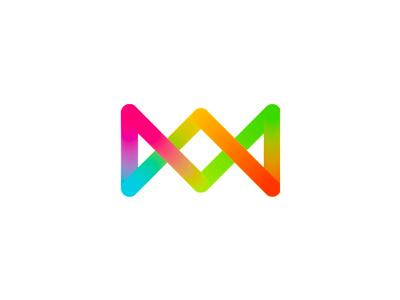 Candy + double K monogram logo design symbol v a w m letter mark monogram kk k candy candies eye candy visual loop monogram symbol icon logo logo design colorful