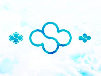 cloud + sky logo design symbol, c + s monogram