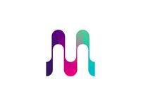 MU monogram / logo design symbol
