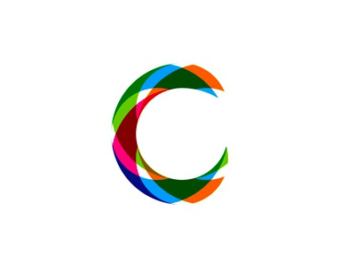 C Monogram Logo Design Symbol Ribbons Dynamic Interactive Parts Pieces
