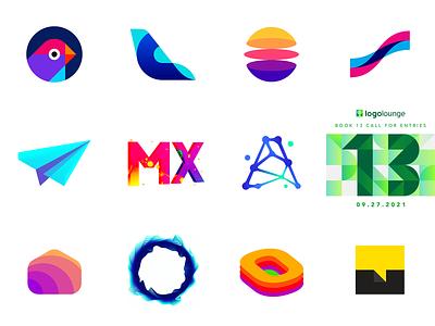 LogoLounge book 13 logos crypto technology tech saas data branding creative colorful letter mark monogram daas logo designer logo design logo 13 logo lounge logolounge
