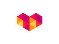 Digital Love logo design symbol