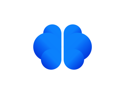 SmartCloud logo design: brain from clouds google storage clever daas saas iot smart contracts iq hosting tech artificial intelligence ai intelligent icon logo design logo brains brain cloud smart