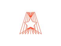A + Star logo design symbol / monogram
