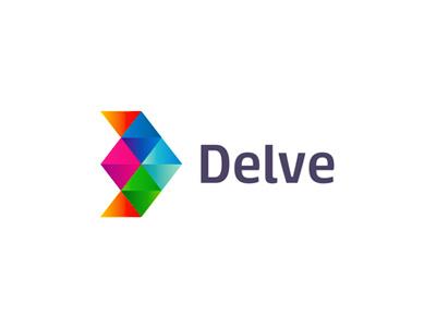 Delve an indie games development logo design by alex tass