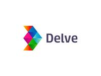Delve, indie games developer, logo design