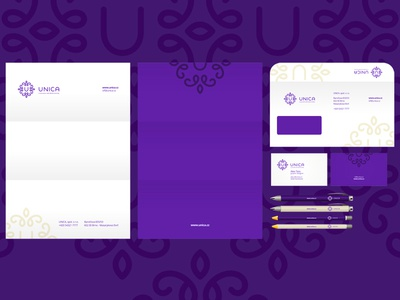 Unica stationery design