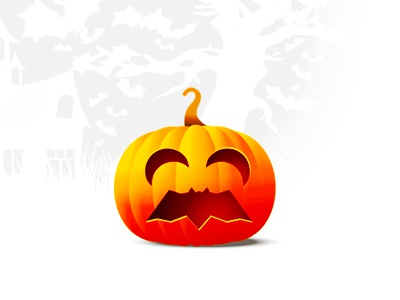 Trick or treat? (yeah, the pumpkin mouth is my bat...) halloween trick-or-treat logo logo design bat pumpkin trick or treat moons