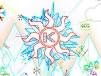 Winter EDM festival logo treatment + flyer / poster design