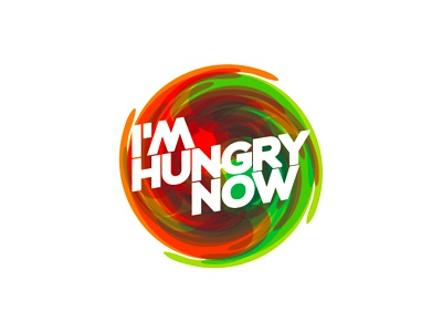 I'm hungry now logo design food hungry logo logo design hunger swirl acid online food ordering service restaurants