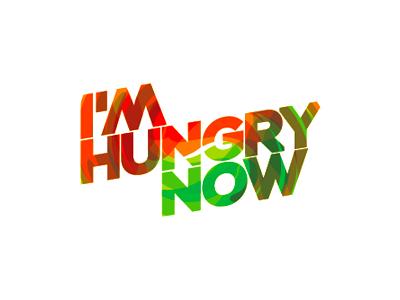 I'm hungry now logo design restaurants online food ordering service acid swirl hunger logo design logo hungry food