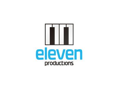 Eleven audio productions logo design music play design audio studio music studio recording studio audio production piano logo logo design producer