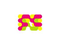 FC monogram / Friends Chain logo design symbol