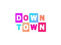 DownTown club / pub / bar logo design