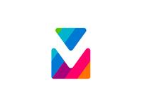 viaMail / via Mail, V M monogram logo design symbol