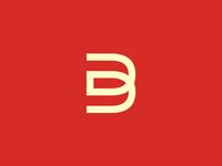 DB / D + B monogram / logo design symbol