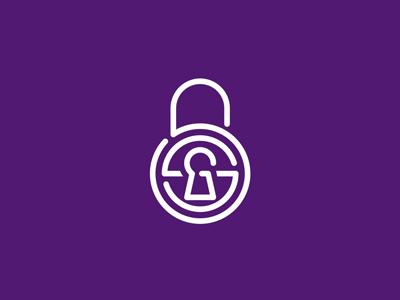 SSG / security / padlock / locker lock / monogram letter mark monogram g s security padlock locker lock monogram logo logo design private privacy secret