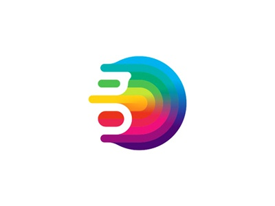 G gravity colorful abstract fluid logo design symbol by for Design lago