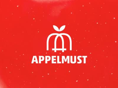 Appelmust logo design: A + M + apple fruit am letter mark monogram ma m a apple juice fruits apples logo logo design sweets monogram appelmust applemust apfel appel æppel refreshings smoothies drinks beverages juices