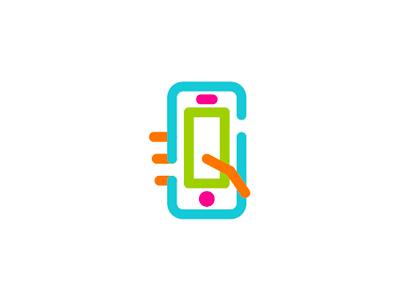 Hand + phone + S letter, social video app logo design ... - photo#7