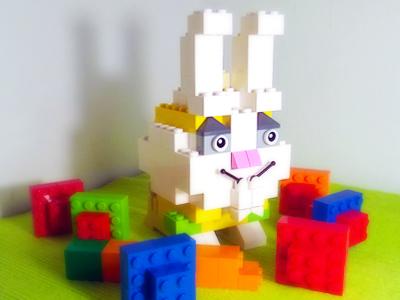 Happy Easter!  easter bunny happy easter lego moc afol rabbit colorful eggs easter eggs bricks