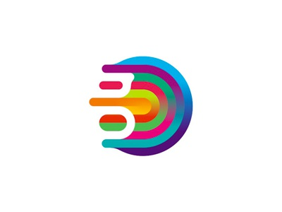 g gravity colorful abstract fluid logo design symbol by alex tass