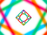 Laser diamond, logo design symbol