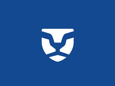 Lion sun glasses shield security logo design by alex tass