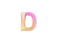 Particles D monogram / logo design symbol