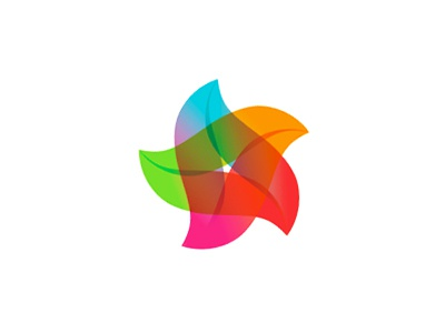 A Colorful Star Monogram Logo Design Symbol By Alex Tass Logo Designer On Dribbble