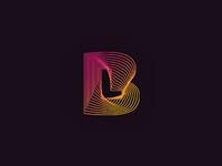 Bastien Laval dj and producer - logo design symbol proposal