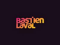 Bastien Laval dj and producer logo design