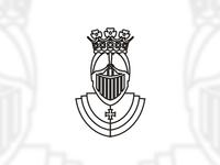 Knight / king / armour logo design symbol