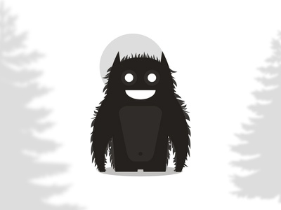 Beast / monster character / logo design symbol monsters beasts characters live streaming camera app apps applications happy yeti china chinese asia mascot smiling smile friendly wild animals symbol icon mark logo design logo