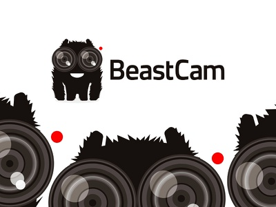BeastCam live streaming app logo design app apps applications live streaming camera monsters beasts characters logo logo design symbol icon mark wild animals friendly smiling smile mascot china chinese asia happy yeti