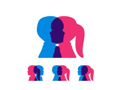 Children genetics research program logo design symbol