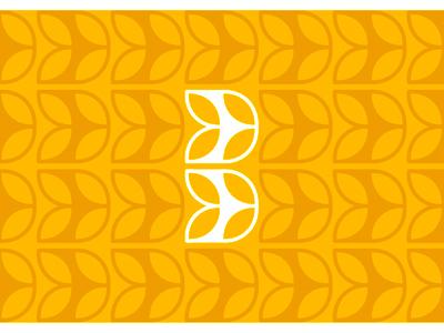 B for Bakery logo design symbol / letter mark & pattern