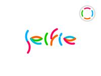 Selfie video social network logo design