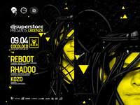 Clubbing time: electronic music event party flyer poster design
