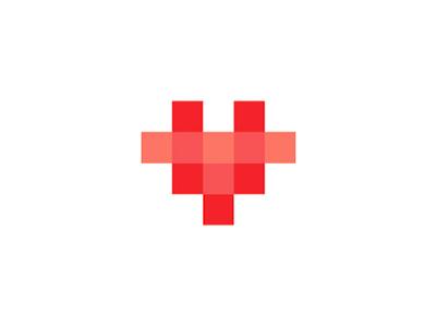 Giraffe Heart Pixels Loving Giraffe Logo Design Symbol By Alex