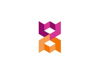 W + A, web + architecture, abstract monogram logo design symbol
