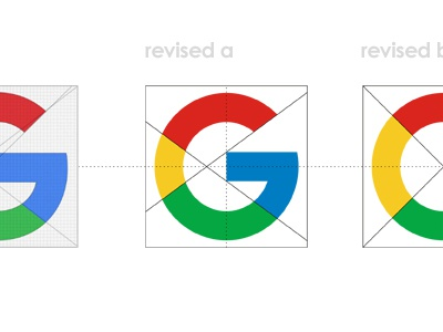 Google redesigned G letter mark icon - unofficial revised 2015 2016 new logo letter mark icon symbol identity design coloring style geometric geometry colors coloring system updated reworked fixed revised refresh redesign rebranding google logo design logo designer evolving identity