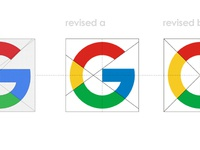 Google g icon letter mark revised by alex tass