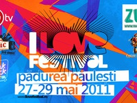 I Love Festival logo on flyer design