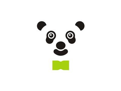 Business Panda With Bow Tie Logo Design Symbol By Alex Tass Logo