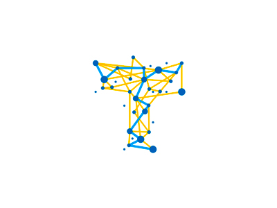 T, traveling, dots, paths, logo design symbol connections nodes network t agent agency travel travelling traveling mark symbol icon abstract line art visual corporate identity startups start ups start-ups lines paths dots circles points intersections connections letter mark monogram logo designer logo