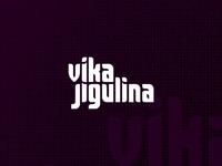 Vika Jigulina logo design